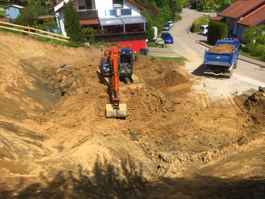 Baugrube Einfamilienhaus Reichenbach u. Rechberg